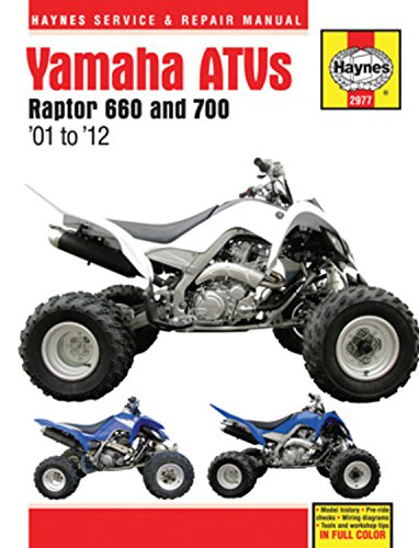 Yamaha Raptor ATVs,  2001-2012 Repair Manual (Haynes Service & Repair Manual)