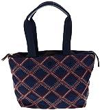 Tory Burch Nylon Flame-Quilt Small Tote Handbag, Style No. 29644