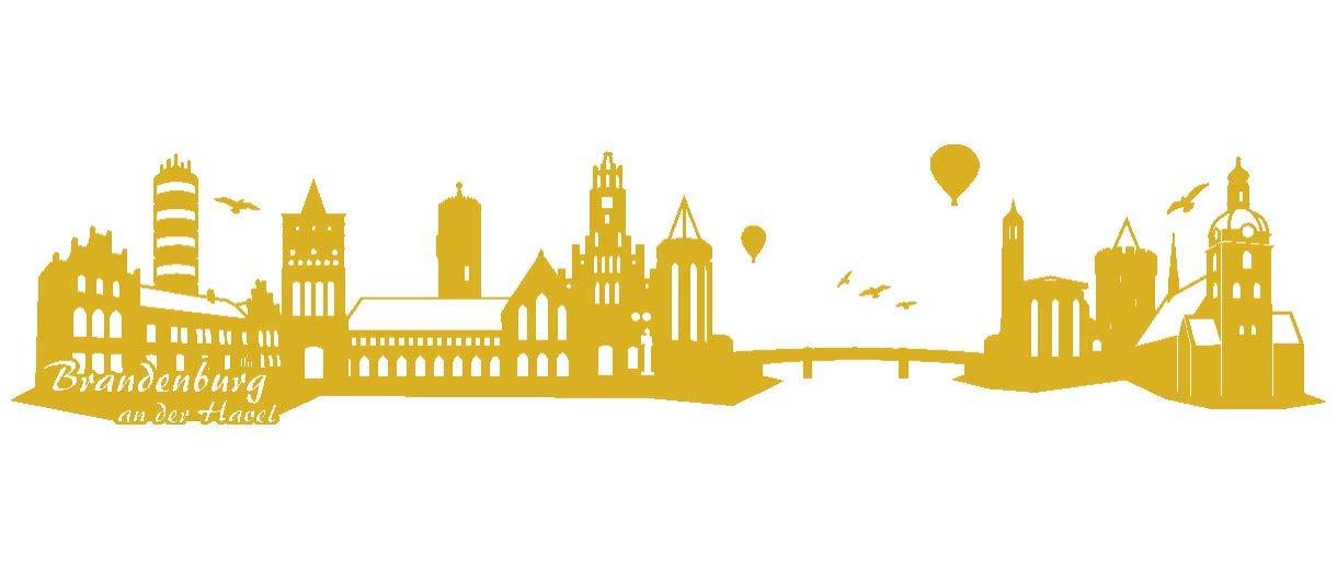 Samunshi® Wandtattoo Brandenburg an der Havel Skyline in 6 Größen und 19 Farben (240x51cm schwarz) B00URS4N9O Wandtattoos & Wandbilder