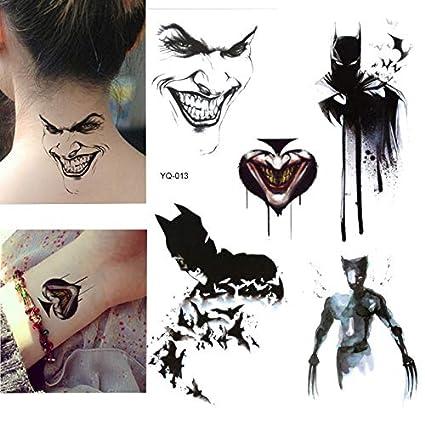 lijinjin Batman Pegatinas para Tatuajes Temporales para Niños ...