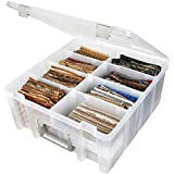ArtBin Super Satchel Double Deep with Removable Dividers, Clear Art and Craft Storage Container Box, 6990AB