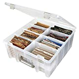 ArtBin 6990AB Super Satchel Double Deep Box with Removable Dividers, Translucent Clear
