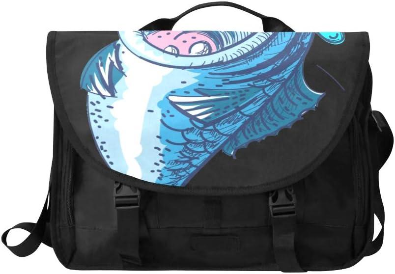 Laptop Bag Breathable Wear-Resistant Shoulder Handheld Zipper Laptop Bag for 13.3 inch MacBook ,Slim Design Color : Blue Black Light Weight and Easy to Carry