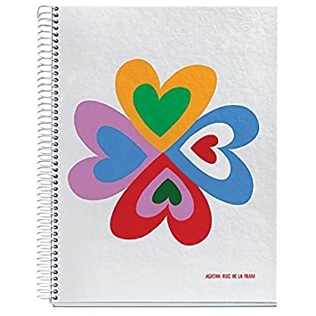 Agatha Ruiz De La Prada for Miquelrius Hardcover Notebook, Heart Flower (8.5