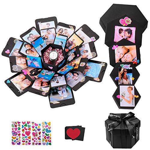 Creative Explosion Gift Box, TEOYALL Surprise DIY Photo Album Box for Birthday Valentine's Day Anniversary Wedding (Best Birthday Surprise For A Boyfriend)
