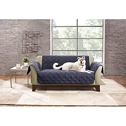 Sure Fit SF44831 Deluxe Non Skid Waterproof Pet Loveseat Furniture Cover    Storm Blue