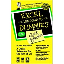 Excel For Windows 95 For Dummies: Quick Reference