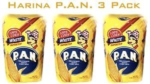 Harina P.a.n. White Corn Meal 1 kg(35 oz/2 lb 3.3 oz) (3-pack)