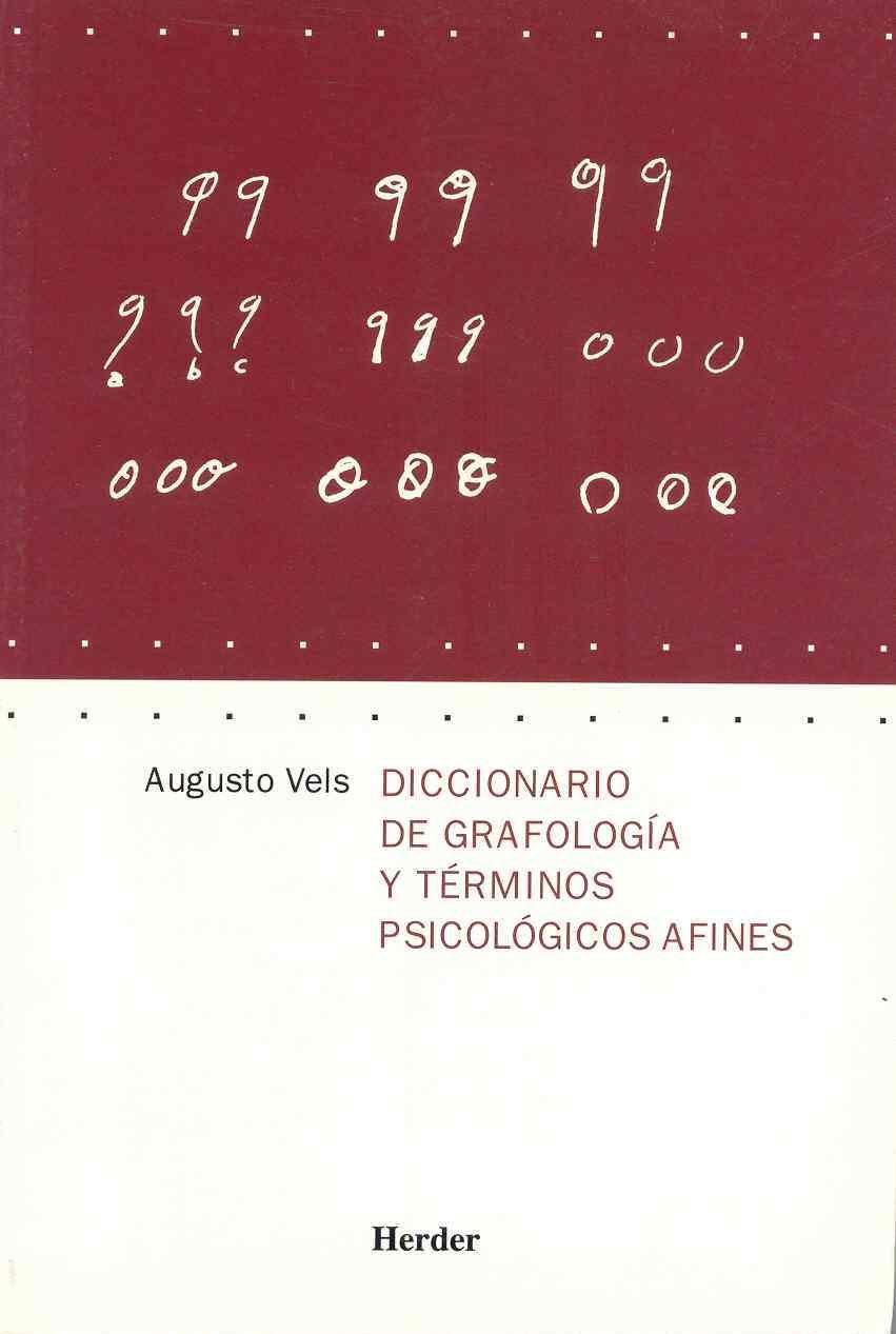 Amazon.com: Diccionario de grafologia y terminos psicologicos afines (Spanish Edition) (9788425424014): Augusto Vels: Books