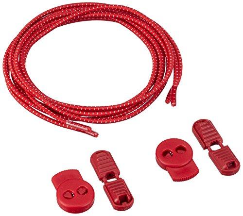 Cordones Para Zapatos de Deporte- Encaje Cerraduras - 2 clips adicionales para que los utilices - Triatlón - Marathon Sport Calendario (Bandera española) Rojo