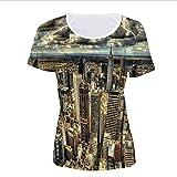 iPrint T-Shirt Pictures Print,Australia Architecture Buildings Metropolis,Women