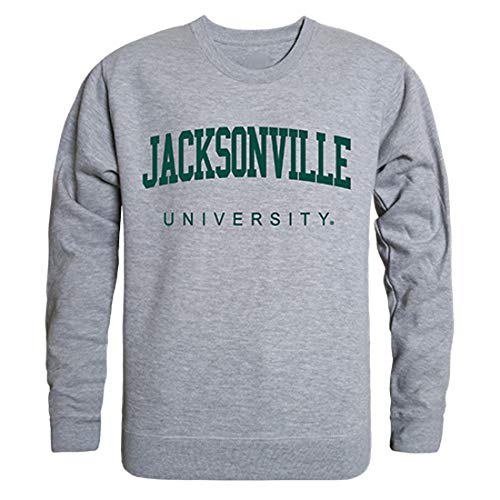 W Republic JU Dolphins Jacksonville University NCAA Men's Game Day Crewneck Fleece Sweatshirt - Small, Heather Grey