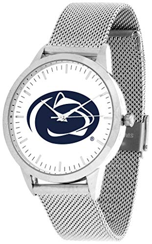 (Penn State Nittany Lions - Mesh Statement Watch - Silver Band )