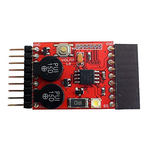 VOLMA Low Voltage LiPo Buzzer and Lost Model Finder Alarm for Quadcopter, RC Air Plane, Helicopter