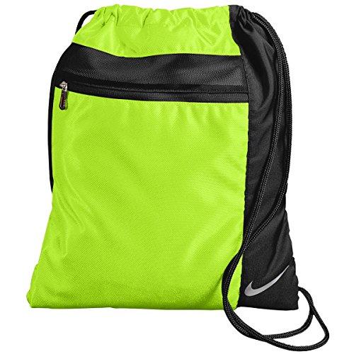 Nike Golf TG0274 Cinch Sack Gym Bag Drawstring Bag Carry On Overnight Bag (Volt/Black) Cinch Drawstring
