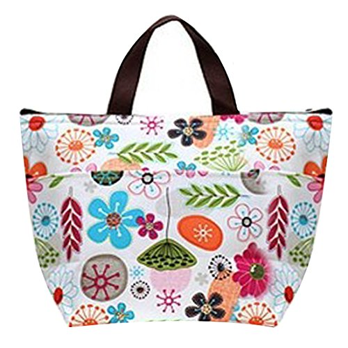 Flower Water Resistant Lunch The Woman Colorful Bag Partiss For 8qESww