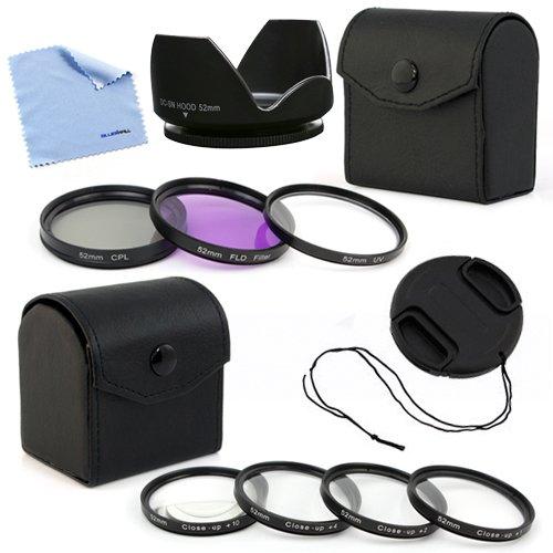 BIRUGEAR Professional 52mm 7pc Filters Lens Accessory Kit for Pentax K-500 K-50 K-30 K-5 IIs K-2000 DSLR Camera which use DA L 18-55mm f3.5-5.6 and 50-200mm Lens (Camcorder 52 Mm Lens)