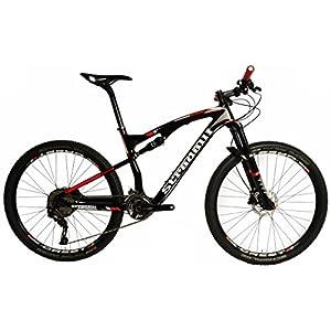 "Stradalli Two 7 Black Edition. Full Carbon Fiber Dual Suspension Cross Country XC Mountain Bike. 27.5"" MTB 650b Shimano XT M8000 2x11. DT Swiss Suspension. Stans ZTR Crest Tubeless Wheelset."