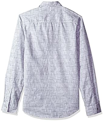 Calvin Klein Jeans Men's Long Sleeve Space Dyed Check Button Down Shirt