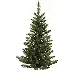 Vickerman 3' Pre-Lit Camdon Fir Artificial Christmas Wall or Door Tree - Clear Lights