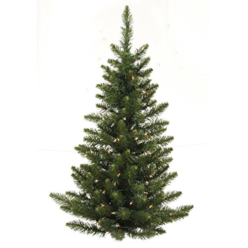 Tree Fir Christmas Camdon (Vickerman 3' Pre-Lit Camdon Fir Artificial Christmas Wall or Door Tree - Clear Lights)