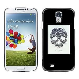 TikTakTok Hard Protective Back Case Skin Cover for Samsung Galaxy S4 I9500 - Skull Poster Minimalist White Black
