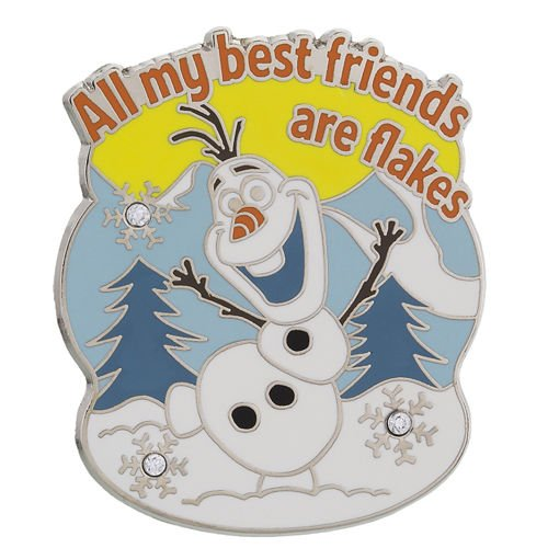 Disney Parks All my Best Friends are Flakes Olaf Frozen Pin -