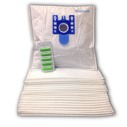 Microsafe® - 20 Microflies Premium Staubsaugerbeutel passend für Miele Complete C3 Serie EcoLine (z.B. Black Diamond, Red, Parquet, Silence, Total Care, Brilliant ..)