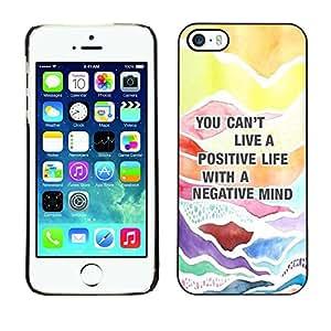 Caucho caso de Shell duro de la cubierta de accesorios de protección BY RAYDREAMMM - Apple iPhone 5 / 5S - Positive Quote Advice Text
