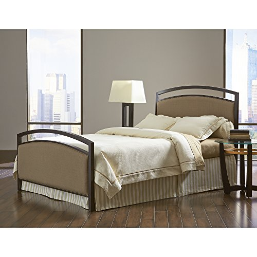 - Gibson Complete Bed with Metal Duo Panels and Brown Sugar Upholstery, Brown Sparkle Finish, California King