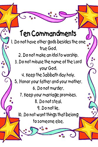 10 commandments for kids - 7
