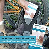 microMend Emergency Wound Closures Surgical Quality Laceration Repair Without Stitches - Think Ahead - Be Prepared - Add to Your Survival Kit, Camping Gear