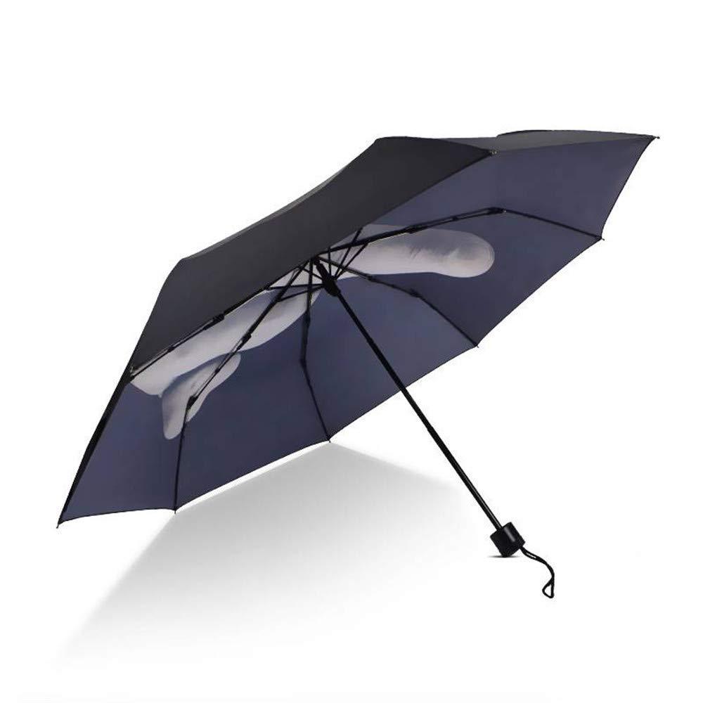 Viaje A Prueba De Viento Dedo Medio Divertido Creative Tres Veces Paraguas Soleado Al Aire Libre: Amazon.es: Hogar