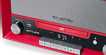 Muse MT-110 RD Negro, Rojo, Plata - Tocadiscos (Negro, Rojo, Plata ...