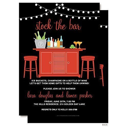 Stock the Bar Couples Shower Invitations