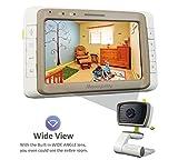 MoonyBaby Wide Angle 5' LCD Video Baby Monitor with Clear Night Vision, Digital Camera, Temperature Monitoring, Long Range, Two Way Talkback System (MANUALLY Rotated Camera), Model: 55935BV