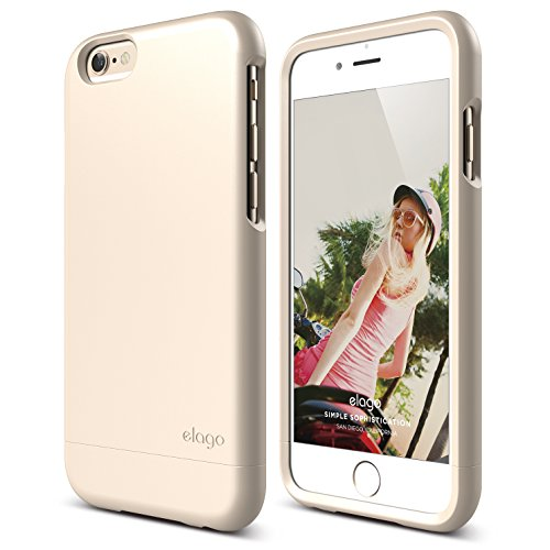 iPhone 6 Case, elago [Glide][Soft Feel Champagne Gold] - [Mix and Match][Premium Armor][True Fit] - for iPhone 6 Only