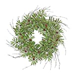 Wholesale Silk Floral 22'' Tuscany Beauty Olive Wreath Wall décor 24-in Green