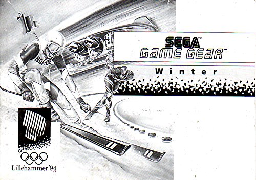 Winter Olympics Game Gear Instruction Booklet (SEGA GG MANUAL ONLY - NO GAME) Pamphlet - NO GAME INCLUDED
