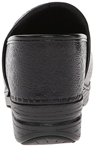 Women's Tooled Dansko Xp Black Pro Floral Mule Shoe TqBFH7