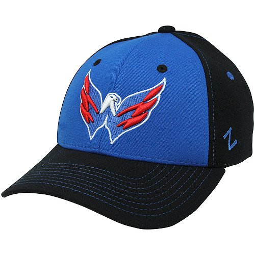 NHL Zephyr Washington Capitals Uppercut Z-Fit Hat - Black/Royal Blue