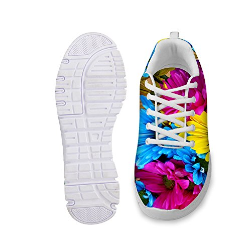 Print Shoes Multi Running Floral Women's Vintage A1 Walking DESIGNS Comfortable Rose U FOR Fashion Sneaker wPqO7gXq