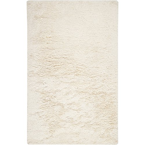 Surya Milan MIL-5003 Shag Hand Woven 80 New Zealand Wool 20 Pol Winter White 8 x 10 Area Rug