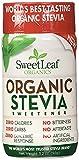 SweetLeaf Organic Stevia Sweetener, 3.2 Ounce (2 Pack)