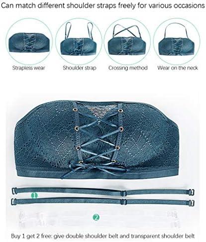 GDJGTA Women Strapless Stealth Bra Wire Free Bra Bandage Brassiere Tira Underwear Lingerie Hot Sell