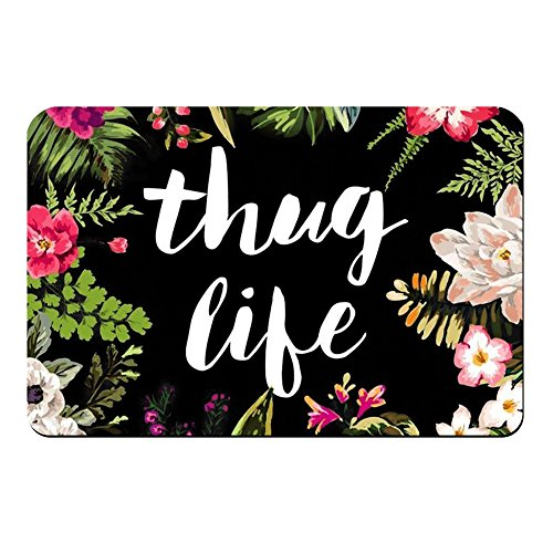 ZBLX Thug Life Flowers Doormat Entrance Mat Floor Mat Rug Indoor/Bathroom Mats Rubber Non Slip (23.6