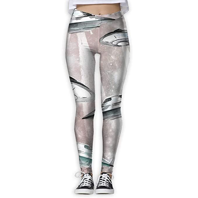 Yoga Pants,Workout Leggings,UFO Painting Pants Yoga Workout ...