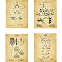 Optometry Patent Wall Art Prints - set of Four (8x10) Unframed - wall art decor for optometrists