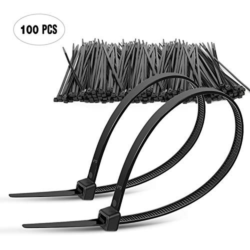 "DTOL 8"" Plastic Cable Zip Ties 100-Pack"