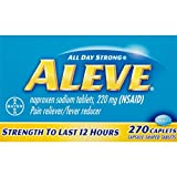 Aleve Caplets with Naproxen Sodium, 220mg Pain Reliever / Fever Reducer, 270 Count